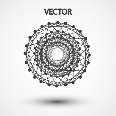 hexahedron: Wireframe polygonal elements vector elegant  shape illustration