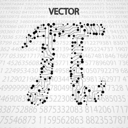 geniality: Pi technology shape. Mathematics vector elegant illustration
