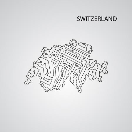 Circuit board  Switzerland eps 10, vector elegant illustration