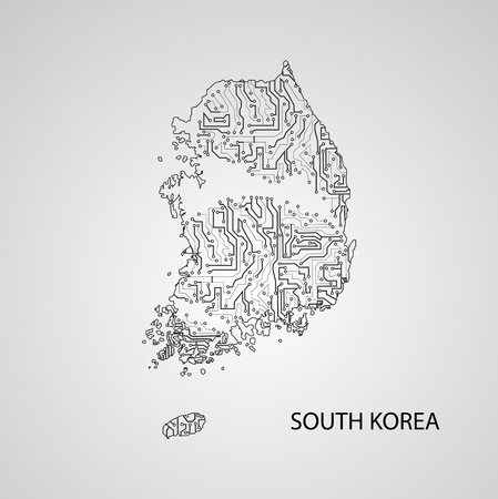 Circuit board South Korea eps 10, vector elegant illustration