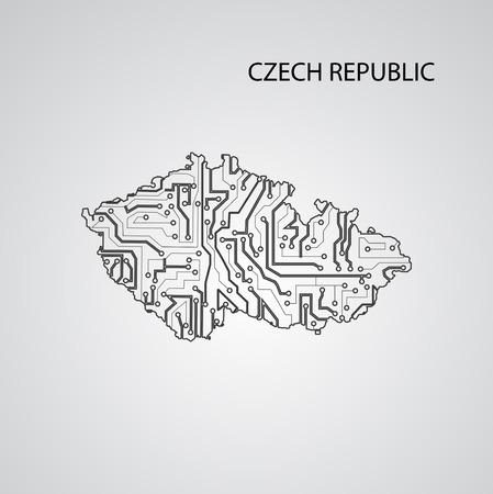 Circuit board Czech Republic ,elegant illustration