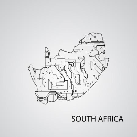 Circuit board  South Africa, elegant illustration