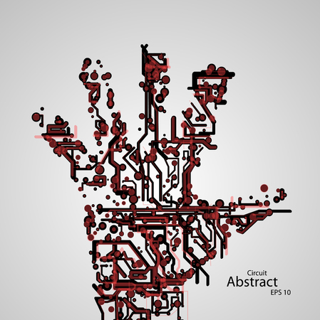 Circuit board shape of hand palm