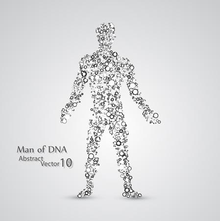 Struktura molekularna w postaci człowieka