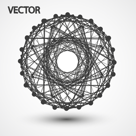 wire frame: Wire frame polygonal elements