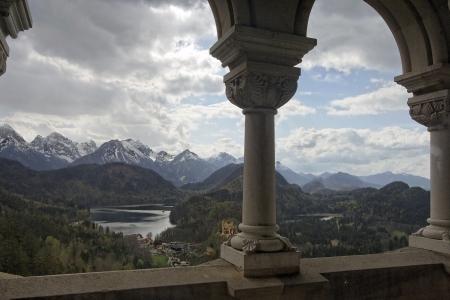 Photo taken from the castle of Neuschwanstein
