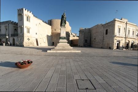 Square in Otranto Salento Puglia Italy