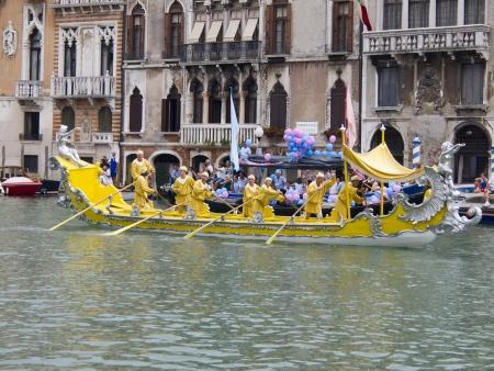 Venezia, Italia, September 4, 2011 - Historical Regatta Editorial