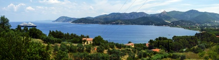 Landscape of Island of Elba Stock Photo