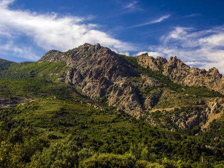 beatiful landscape of the mountain Gennargentu in sardinia Italy