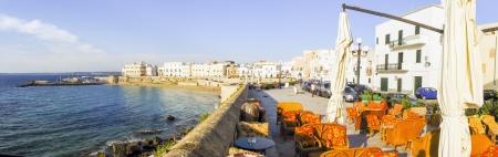 vacance: landscape of the promenade of Gallipoli Editorial