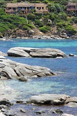glimpse of the sea near Villasimius Sardinia Italy