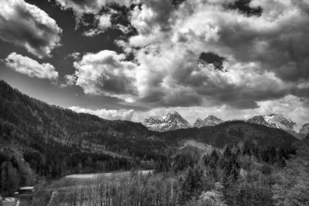 beatiful landscape of Bavarian Alps