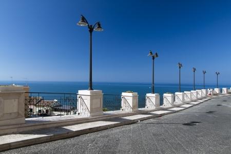 rodi garganico: promenade on a summer day in the city of Rodi Garganico, Apulia, Italy