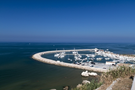 rodi: panoramic view of the port of Rodi Garganico, Apulia Italy