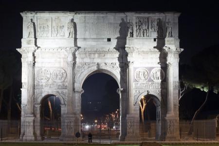 constantine: night view of Constantine s triumph arch