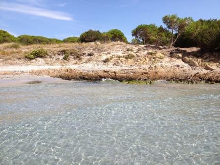 Landscape of Cala Ginepro beach Sardinia Italy