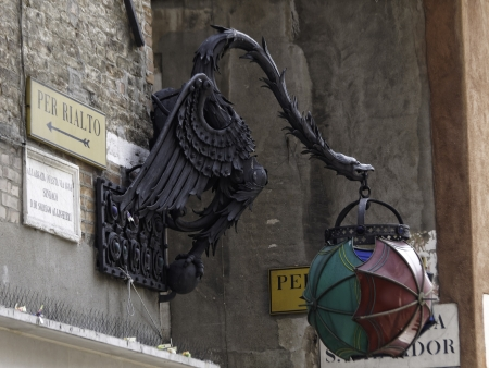 vacance: old street lamp in Venice Stock Photo