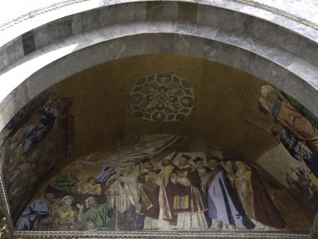 particolare: Basilica di San Marco; facciata particolare Editoriali