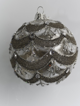 christmas tree decoration silver color