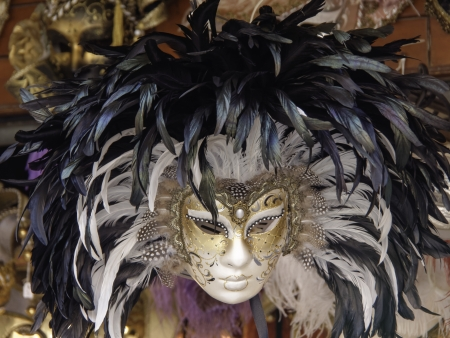 typical carnival mask of venice italy