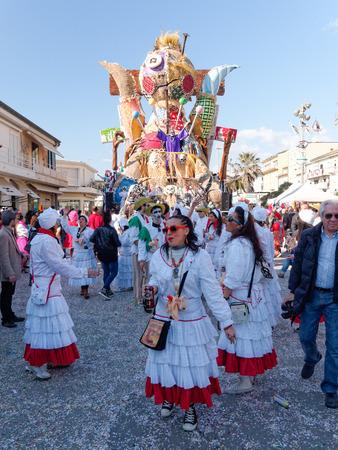 VIAREGGIO, ITALY - FEBRUARY 23:   allegorical float at Viareggio Carnival held February 23, 2014 Editorial