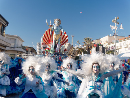 VIAREGGIO, ITALY - FEBRUARY 23    allegorical float at Viareggio Carnival held February 23, 2014