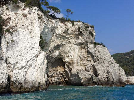 Panoramic view of Apulia coast; Gargano Italy Stock Photo