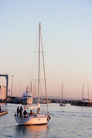 viareggio: landscape of the port of Viareggio in Versilia Italy Editorial