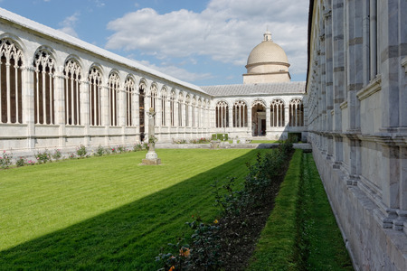 monumental cemetery: interior view of the Monumental Cemetery in Pisa Italy Stock Photo