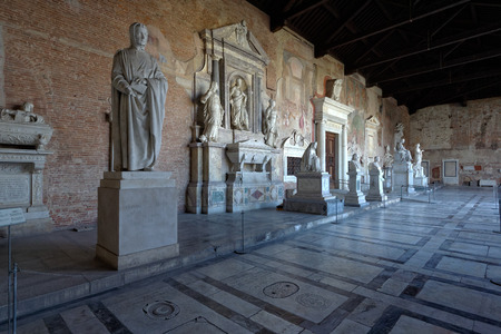 monumental cemetery: interior view of the Monumental Cemetery in Pisa Italy Editorial