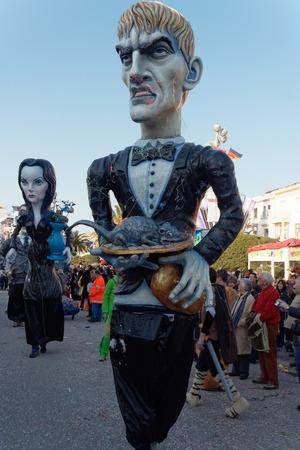 VIAREGGIO, ITALY - FEBRUARY 19:   parade of allegorical chariot at Viareggio Carnival held February 04, 2007