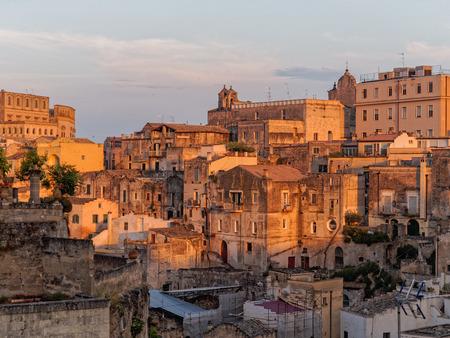 sassi: landscape of Matera, Basilicata Italy