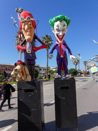 VIAREGGIO, ITALY - FEBRUARY 23:   allegorical float of the net at Viareggio Carnival held February 23, 2014 Editorial