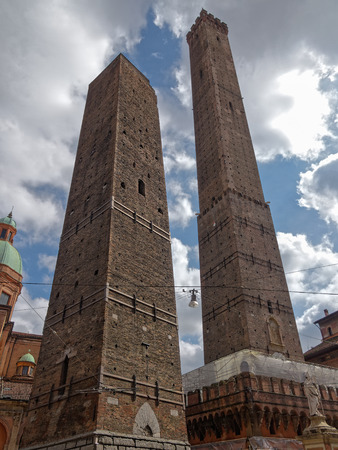 Two towers of Bologna, Emilia Romagna, Italy