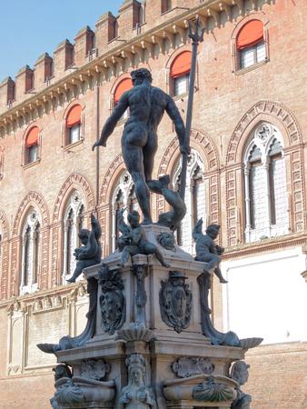 Fountain located in Piazza del Nettuno, Bologna, Emilia Romagna Italy Stock Photo