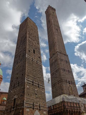 Two towers of Bologna, Emilia Romagna, Italy photo