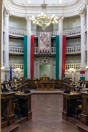 emilia: Interior view of the city hall of Reggio Emilia