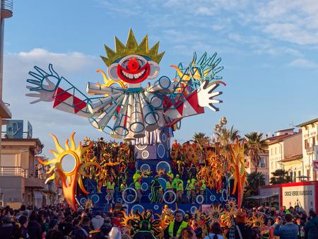 VIAREGGIO, ITALY - FEBRUARY 2:   allegorical float at Viareggio Carnival held February 2, 2015