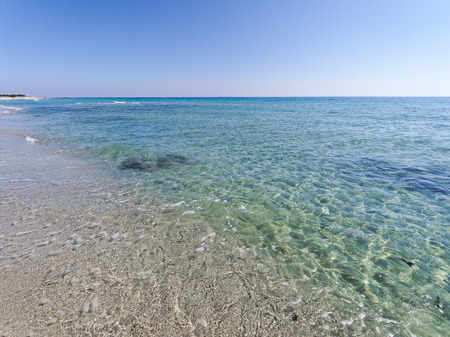 Landscape of Cala Berchida beach in the gulf of Orosei Sardinia Italy Stok Fotoğraf