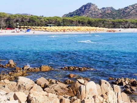 Landscape of Cala Ginepro beach in the gulf of Orosei Sardinia Italy Stok Fotoğraf - 37278623