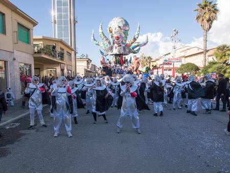 allegorical: VIAREGGIO, ITALY - FEBRUARY 2:   allegorical float at Viareggio Carnival held February 2, 2015