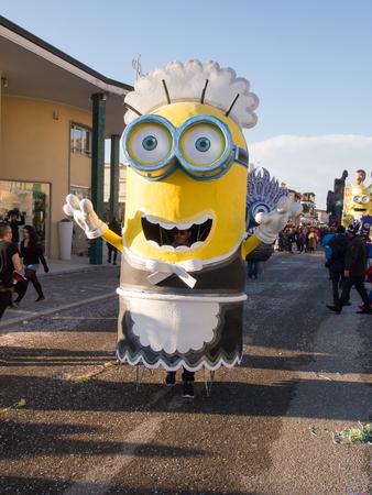 allegorical: VIAREGGIO, ITALY - FEBRUARY 2:   allegorical float of minions at Viareggio Carnival held February 2, 2015 Editorial