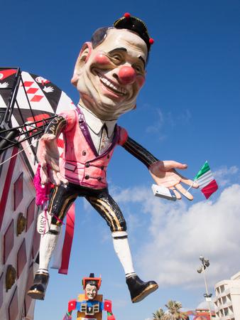 allegorical: VIAREGGIO, ITALY - FEBRUARY 2:   allegorical float of Mr Berlusconi at Viareggio Carnival held February 2, 2015