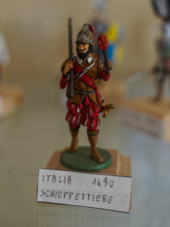 vintage military rifle: Varano de Melegari, ITALY - SEPTEMBER 14:   exhibition of hand-painted toy soldiers held September 14, 2014