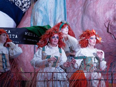 allegorical: VIAREGGIO, ITALY - FEBRUARY 7:   allegorical float  at Viareggio Carnival held February 7, 2016