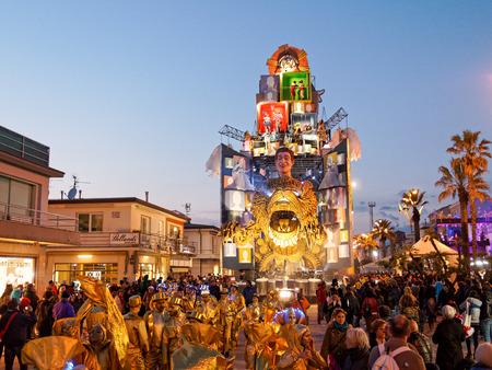 allegorical: VIAREGGIO, ITALY - March 12:   allegorical float  at Viareggio Carnival held March 12, 2016
