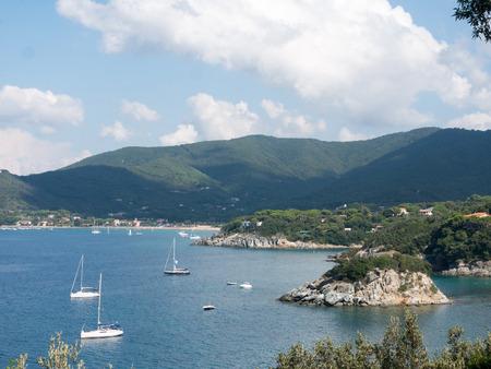 Landscape of Portao Ferrario Elba island Italy