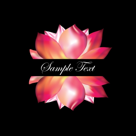 Pink lotus on black background Stock Vector - 15757828