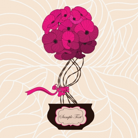 flowerpots: Flower bouquet in cute flowerpot